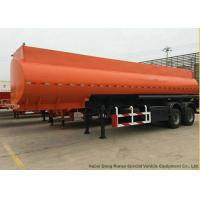2 Axle  Stainless Steel Oil Fuel Petrol Diesel Tank Semi Trailer  2 Compartments  36m3 Manufactures