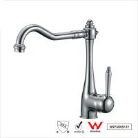 China Watermark Single Handle Water Faucet , Bathroom Basin Water Ridge Tap on sale