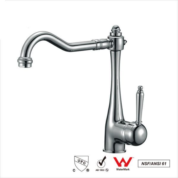Quality Watermark Single Handle Water Faucet , Bathroom Basin Water Ridge Tap for sale