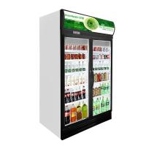 Self - Closing Glass Door Freezer 1280*695*2120 Mm Low - Energy Consumption Manufactures