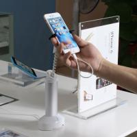 China COMER Mobile phone security display stand with alarm grippers cable internal on sale