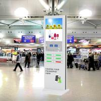 China Free Standing Cell Phone Charging Stations And Advertising Kiosk For Public Places on sale