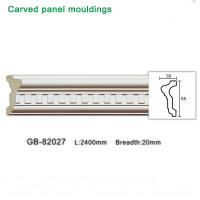 2400mm White PU carving Panel moulding ceiling corner for interior decoration Manufactures