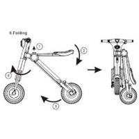 Folding Electric Scooter Motorized Electric Bicycle Max Speed 18KMH Manufactures