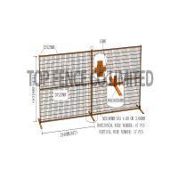 """Quality Construction Security Temp Fence Panels 6ft x 10ft 1830*3050mm Spacing 4""""x12'(100mm*300mm) Akzol Powder Coated 25mm*1.6 for sale"""