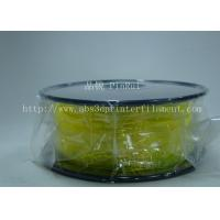 Quality High Elasticity Yellow Flexible 3D Printer Filament 1.75 / 3.0 mm for sale
