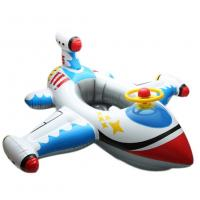 Kids White Plane Shaped Inflatable Swim Ring PVC Seat Float Boat 0.2mm Thickness Manufactures
