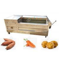 China Carrot Washing And Peeling Line Vegetable Washing Machine Commercial CE / ISO on sale