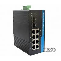 8 Port Industrial Ethernet Switch FCC Part 15 With IP40 CE Certification Manufactures