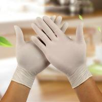 China Puncture Resistant  Disposable Medical Gloves Powder Free Smooth Surface on sale