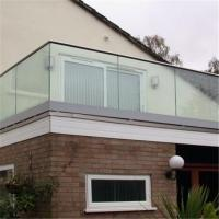 High quality U channel base tempered glass deck railing / U profile frameless glass railing Manufactures