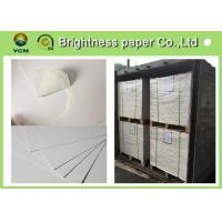 Large White Card Sheets 350gsm , Recycled Coated Cardboard Sheets Anti - Curl Manufactures