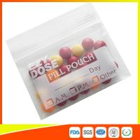 Customized Clear Ziplock Pill Bags Resealable For Drug Medicine Packing Manufactures