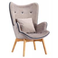 China Modern Living Room Replica Dining Chairs Covered Multi - Density Foam With Footrest on sale