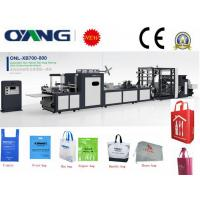 China Full automatic non woven tote bag making machine with handle on sale