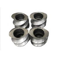 Bimetallic Extrusion Machine Parts , Extruder Screw Elements 0.6-0.8mm NItriding Depth Manufactures