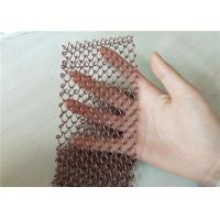 Flat Surface Chain Link Curtain , Metal Fly Screen Curtains Mesh Uniform Manufactures