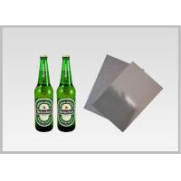 Washable Silver Metallic Paper With Laser Holographic  Wood Pulp Material Beer Bottle Label in 70gsm Manufactures