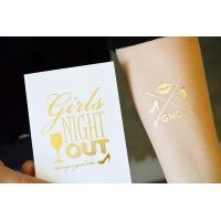 China Gold foil temporary tattoo on sale