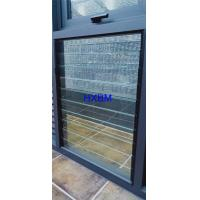 China AS2047 Standard Glass Louver Aluminum Casement Windows With Fixed Security Screen on sale