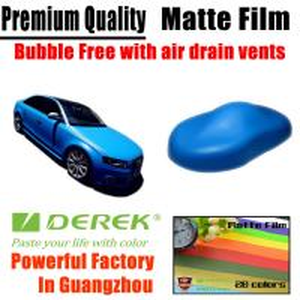 China Matte Car Wraps Vinyl Film - Matte Light Blue Car Wrapping Film wholesale