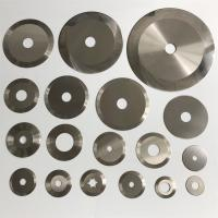 China Circular Tungsten Carbide Slitter Blades Carbide Steel Blade Iso 9001 on sale