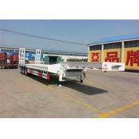 50 - 80T Heavy Duty Semi Trailers 3 Axle Lowbed Semi Trailer WABCO Valve Manufactures
