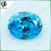 China 3*5mm to 10*12mm Machine Cut Emerald Synthetic Stones Cubic Zirconia Price on sale