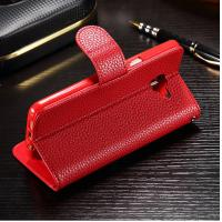 Colored Samsung J7 Prime Leather Case , Stitching Personalised Leather Phone Case Manufactures