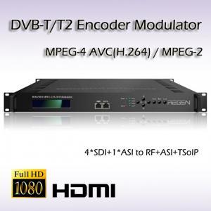 China REM7004 MPEG-2/H.264 SD/HD-SDI TO 2*DVB-T Four-Channel Encoder Modulator SDI Digital tv Encoder DVB RF Modulator on sale