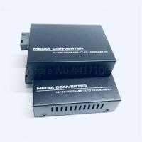 Large Dynamic Range Network Media Converter , Black Fiber Converter Box Manufactures