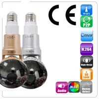 Buy cheap EAZZYDV Wireless  Bulb Wifi Camera Indoor Security Camera Spy camera with LED light and Remote Control from wholesalers