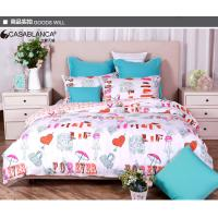 Lovely Cartoon Twill Cotton Printed Bedding Sets Comfortable For Home / Hotel Manufactures