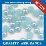 Ceramic stone fluorescein half round flatback pearls,ceramic flatback pearl,half round flat back pearls supplier 0825 Manufactures