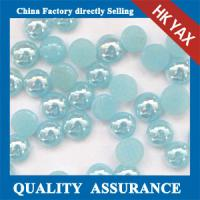 Buy cheap Ceramic stone fluorescein half round flatback pearls,ceramic flatback pearl,half round flat back pearls supplier 0825 from wholesalers