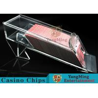 1.2kg Transparent Acrylic Casino Card Shoe With Excellent Light Transmission Manufactures