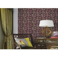 Three Dimensional Modern Removable Wallpaper Flower Pattern , Eco - Friendly Manufactures