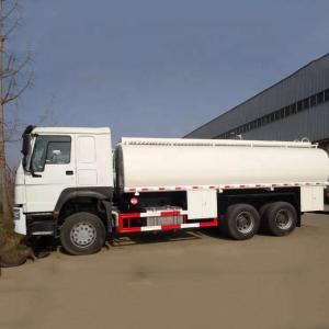 China White Sinotruk HOWO 10 Wheels 6000 Gallon 6x4 Fuel Tanker Truck  371Hp Euro 2 on sale