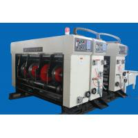 Rotary 11kw Corrugated Carton Box Making Machine With Plated Rollers Manufactures