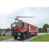 8x4 Driving Fire Engine Vehicle , Large Capacity Tower Ladder Fire Truck Manufactures