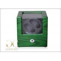 China Wood Green Automatic Watch Winders / Ladies Watch Winder Packaging Box on sale