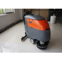 China Low Noise Twice Cleaning Width Battery Powered Floor Scrubber Not  For Soft Carpet on sale