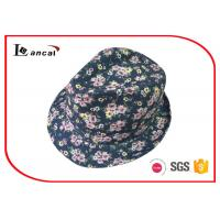 100% Cotton Twill Waterproof Ladies Trilby Hats Floral Printed 52cm Manufactures