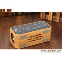 2018 Promotional Gift Touch Screen Color LED Light Blue tooth Speaker Wooden Home Portable Wireless Bluetooth Speaker Manufactures