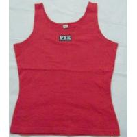 Quality EXPORT CUSTOM LOGO Hurdle vest T SHIRT 100%COTTON sport T-shirt women t shier for sale