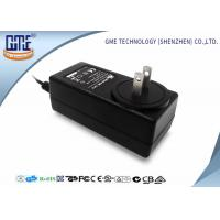 China Black 2 Flat Prong 36W AC DC Power Adapter With 1.5m Cable , 87.4% Efficiency wholesale