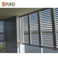 Eco - Friendly Aluminium Louver Window , Secure Glass Shutter Openable Plantation Louver Ventilation Grille Window Manufactures