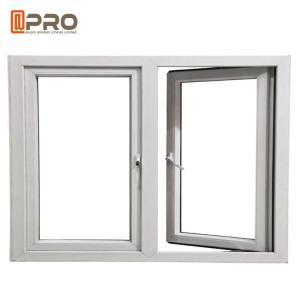 China Hurricane Impact Soundproof Aluminum Casement Windows , Custom Made Double Glazed Windows on sale