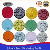 Quality 100mm Diamond Polishing Pads for Concrete , Polishing the Concrete Countertop and Floor for sale