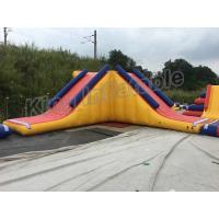 Quality Triangle Inflatable Water Floating Slide Water Park For Outdoor Games for sale